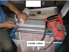 wax candle cutting machine candle cutter candle trimmer